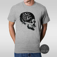 RUBIK'S SKULL Screen printed Men's T-shirt. Available in S,M,L,XL sizes.