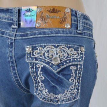 Vivi Diva Jeans - Boot Cut - Embroidered and Rhinestones