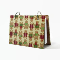 3 x 5 index card binder, gingerbread man, holiday recipe book, hostess gift or Christma stocking stuffer