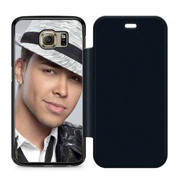 Prince Royce Hat Leather Wallet Flip Case Samsung Galaxy S6