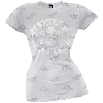 Lynyrd Skynyrd - Skull & Wings Print Juniors T-Shirt