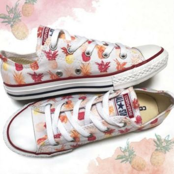 Pineapple Paradise Converse Low Top