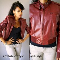 Vintage 1980s Leather Bomber