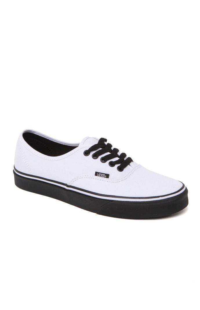 Vans Authentic Black Sole Shoes - Mens from PacSun  ae1571777