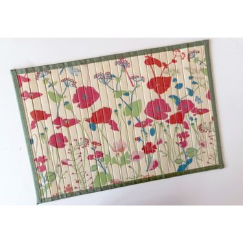 Poppies Floral Bamboo Placemats