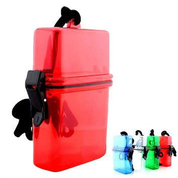 Key Money Phone Storage Box Case Holder Outdoor Waterproof Plastic Container Case for Mobile Phone (Random Color)