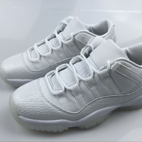 Hot Air Jordan 11 Women Shoes Scrawl White