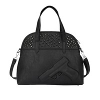 MapleClan So Cool 3D Gun killer Satchel Studded Women's Embossed Handbag