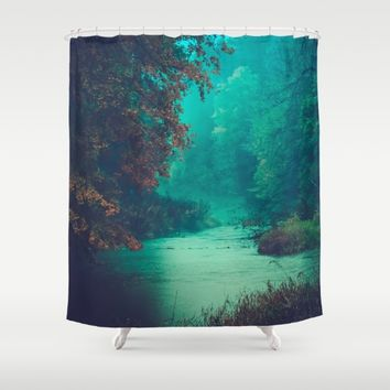 Sanctuary Shower Curtain by Faded  Photos