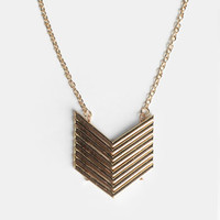 Go Your Own Way Chevron Necklace