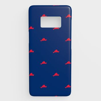 Martha's Vineyard Cell Phone Case Galaxy S8 - Red on Blue