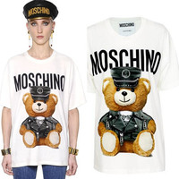 MOSCHINO WOMEN'S COTTON T SHIRTS TANK TOPS
