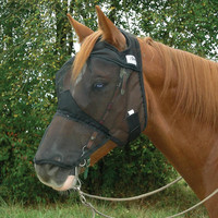 Crusader Quiet Ride Fly Mask Long Nose With Ears