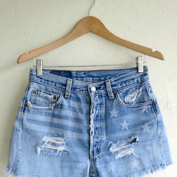 "Levi's ""Starstruck"" Customized Shorts"
