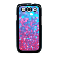 Blue Pink Sparkle Blur Unique  for Samsung cases
