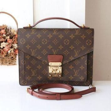 PEAPYD9 Louis Vuitton Bag Monceau Monogram Vintage Handbag SR0966