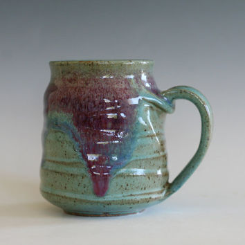 Coffee Mug Pottery, 15 oz,  unique coffee mug, handmade ceramic cup, handthrown mug, stoneware mug, wheel thrown pottery mug, ceramics
