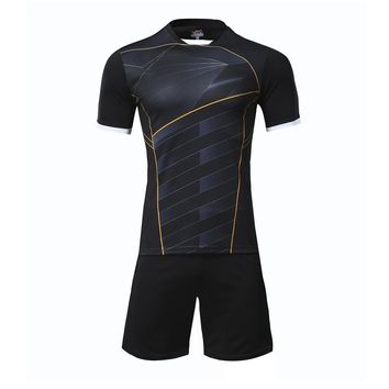 Men football jerseys soccer sets team sports training pants suits Volleyball jersey shorts shirts uniforms $1.8 to custom print
