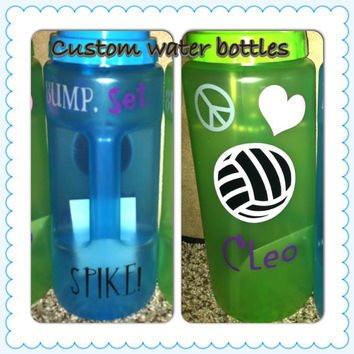 Custom water bottles you choose design  by LeiaLove00 on Etsy