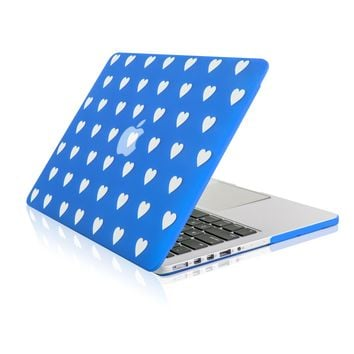 """Royal Blue Heart Shape Design Ultra Slim Light Weight  Hard Case Cover for Apple MacBook Pro 13.3"""" with Retina Display Model: A1425 and A1502"""