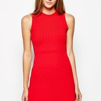 HALLOWS SLEEVELESS CABLE KNITTED DRESS