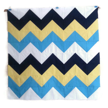 Modern Chevron Baby Quilt, Custom Quilt, Wall Hanging, Crib Quilt, Lap Quilt, Twin Quilt, Geometric Chevron Design