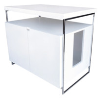 ModernCat Designs Large Litter Box Hider - Glossy White