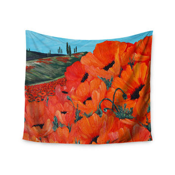 "Christen Treat ""Poppies"" Wall Tapestry"
