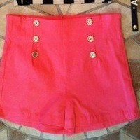 High waist pink shorts from Belle La Vie Boutique
