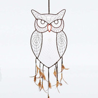 Suede Owl Wall Hanging - Urban Outfitters