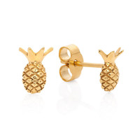 Pineapple Stud Earrings - Gold | Lee Renee