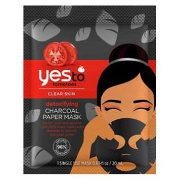 Yes To Tomatoes Detoxifying Charcoal Paper Mask 1 ct