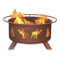 Moose & Trees Steel Fire Pit by Patina Products