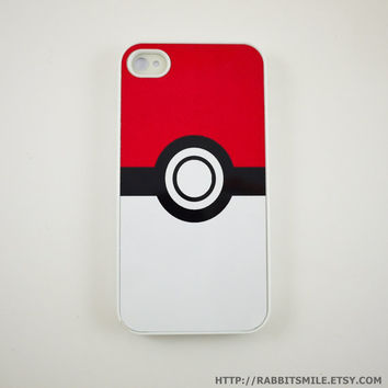Pokeball iPhone 4 Case iPhone 4s Case iPhone 4 by rabbitsmile