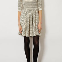 Geo Stripe Sweat Dress - Dresses  - Clothing