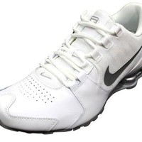 Tagre™ Nike Men's Shox Avenue Leather White/Silver Running Shoes 833584 100