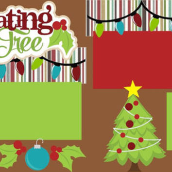 Decorating the Tree Premade 2-page 12 X 12 Scrapbooking Page Layout