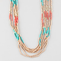 Full Tilt Seed Bead Layered Necklace Gold One Size For Women 26198562101
