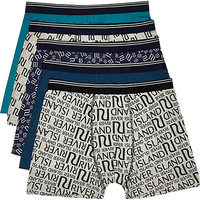 River Island MensMixed RI boxer shorts pack