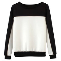 Black and White Color Block Sweater