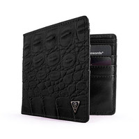 Mint Black Crocodile Bifold Wallet