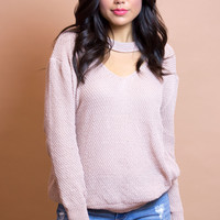 Pebble Knit Blush Top