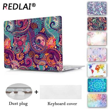 Redlai Colors Crystal Clear Laptop Case For Macbook Pro 13.3 15.4 Retina Air 13 inch New For Macbook Pro 13 Touch bar