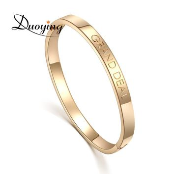 DUOYING Custom Name Copper 6mm Bangle Bracelet Personalized Initial Engraved Name Bracelet & Bangle For Lovers Etsy supplier