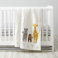 Savanna Animal Baby Quilt