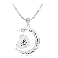 Moon&Heart Two-Piece Pendant Necklace