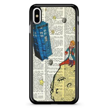 The Little Prince With Tardis iPhone X Case