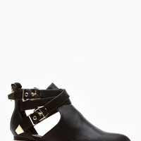 Dollhouse Plated Allison Black Ankle Booties