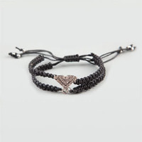 FULL TILT Rhinestone Chevron Double Braid Bracelet 197835100 | Jewelry | Tillys.com