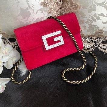 GUCCI M544242 Ophidia GG Supreme Women Shoulder Bag 2019 New Rose Red